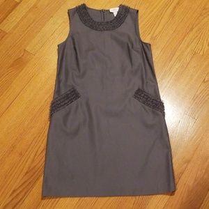 Ann Taylor Loft Gray Shift Dress w/ Pockets Sz 4